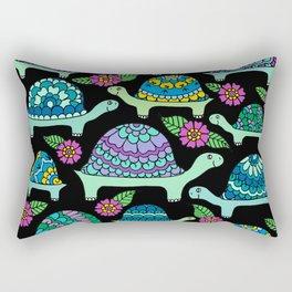 Tortoises Black Rectangular Pillow