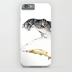 Cat with a Fish Slim Case iPhone 6s