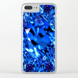 AWESOME SEPTEMBER BLUE  SAPPHIRES GEM BIRTHSTONE ART Clear iPhone Case