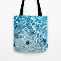pool Tote Bags featuring Pool by Britt Mansouri
