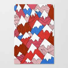 The Red Mountains (Pattern) Canvas Print