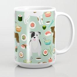 Pitbull sushi dog breed pet pattern pibble dog mom Coffee Mug