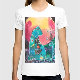 Super Cat - fantastic animal - by LiliFlore T-shirt