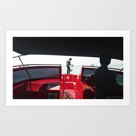 Dropping Anchor Art Print