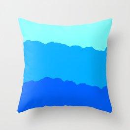 Minimal Mountain Range Outdoor Abstract Throw Pillow