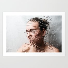 Through The Screen Art Print