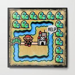 Super Mario 3 Level 1 Metal Print