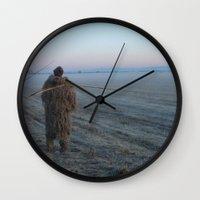 bigfoot Wall Clocks featuring Bigfoot? by Randy Sager