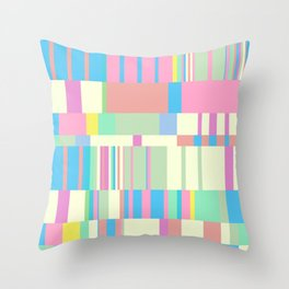 Chopin Prelude (Miami Beach Colours) Throw Pillow