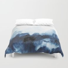 Indigo watercolor 2 Duvet Cover