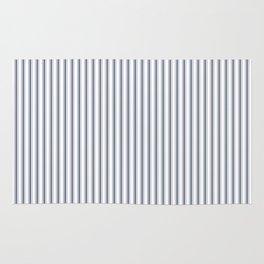 Dark Sargasso Blue Mattress Ticking Narrow Striped Pattern - Fall Fashion 2018 Rug