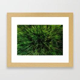 zieleń Framed Art Print