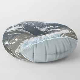 Arctic glacier scene Floor Pillow
