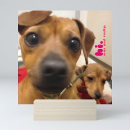 MAX and ROCKY (shelter pups) Mini Art Print