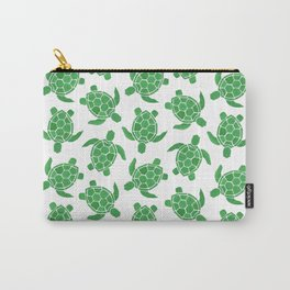 Sea Turtle in Green Carry-All Pouch