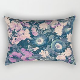 Floral Nights Space Dreams Rectangular Pillow