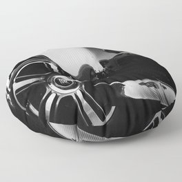 Rolls Rims // Black and White Luxury Super Car Photography Real Life Street Shots Floor Pillow