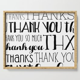 Thank Yous Serving Tray