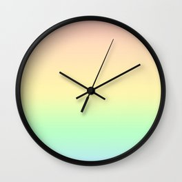 Pastel Rainbow Pattern Wall Clock