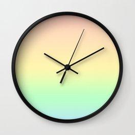 Pastel Rainbow Gradient Pattern Wall Clock