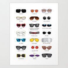 Cinema Sunglasses Art Print