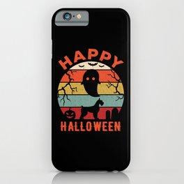 Giant Schnauzer Happy Halloween iPhone Case