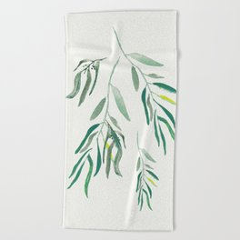 Eucalyptus Branches II Beach Towel
