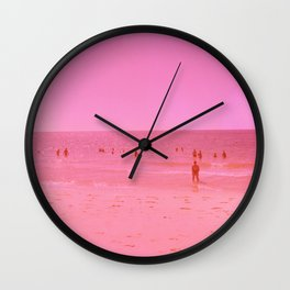 Summer in pink Wall Clock