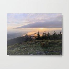 Sunset over Sturgeon Rock Metal Print