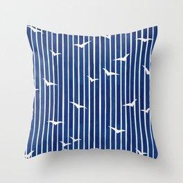 Seagull sky Throw Pillow