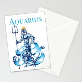 Aquarius Water Zodiac Gift Stationery Cards