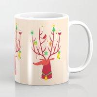 reindeer Mugs featuring Reindeer by Wharton