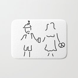 German Germany to Bavarians dirndl Bath Mat