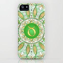 Zodiac Sign Taurus Mandala iPhone Case
