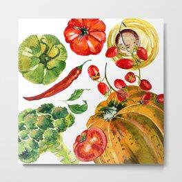 Vegetable mix Metal Print