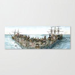 Pirate Port Canvas Print