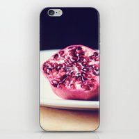 pomegranate iPhone & iPod Skins featuring pomegranate by Mary Carroll