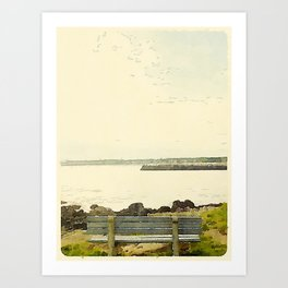 Kennebunkport Coast Art Print
