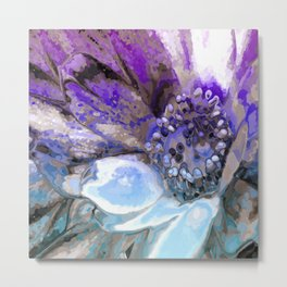 In Sunlight, Lilac and Blue Metal Print