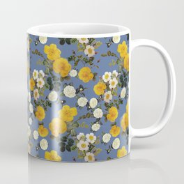 Yellow vintage rose// summer  floral roses Coffee Mug