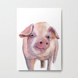 Baby Pig / Piglet Metal Print