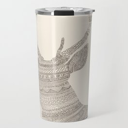 Stag / Deer (On Beige) Travel Mug