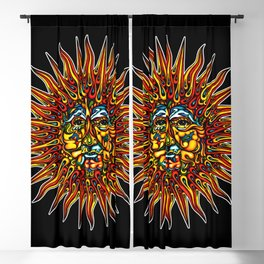 Psychedelic Sun Blackout Curtain