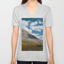 Sunny Afternoon in Colorado Mountains - Mt. Bross 2 Unisex V-Neck