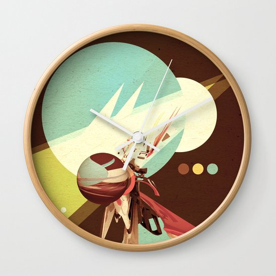 Vintage Space Poster Series I - Explore Space - It's Fun! Wall Clock