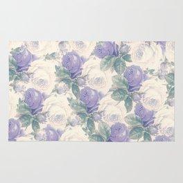 Lavender roses floral pattern Rug