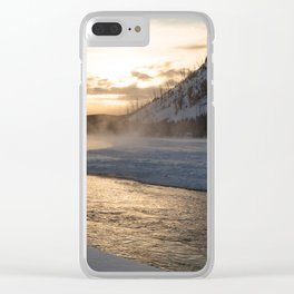 Yellowstone National Park - Sunrise along the Madison River Clear iPhone Case