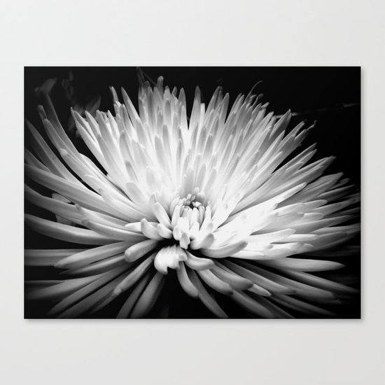 Mum in Monochrome Canvas Print