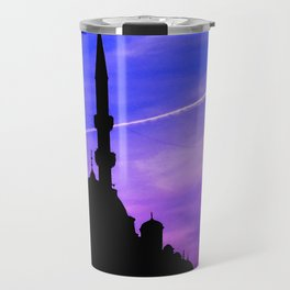 mosque and sunset Travel Mug