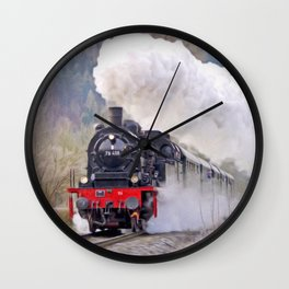 Steam Engine Locomotive Wall Clock